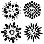 The Crafter's Workshop - 12 x 12 Doodling Templates - 4 Flowers