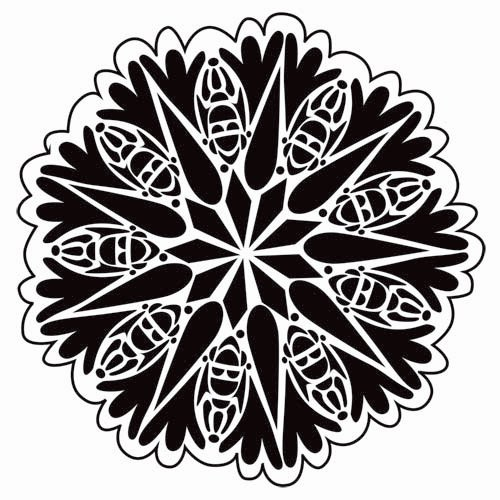 The Crafter's Workshop - 6 x 6 Doodling Templates - Mini Bug Doily