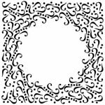 The Crafter's Workshop - 12 x 12 Doodling Templates - Curl Frame