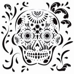 The Crafter's Workshop - 6 x 6 Doodling Templates - Mini Mexican Skull