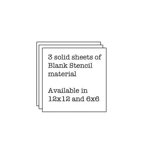 The Crafter's Workshop - 6 x 6 Doodling Templates - Mini 3 Solid Stencil Sheets