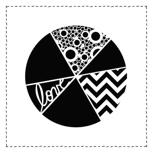 The Crafter's Workshop - 12 x 12 Doodling Template - Pie Chart