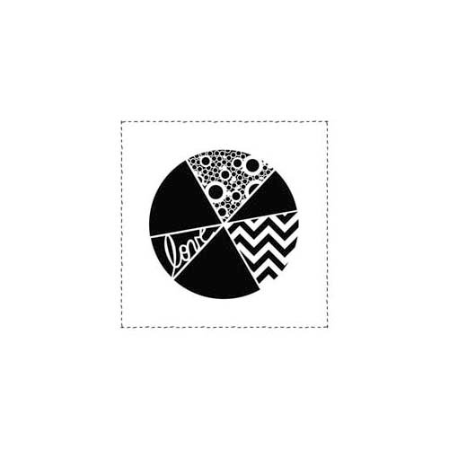 The Crafter's Workshop - 6 x 6 Doodling Template - Mini Pie Chart