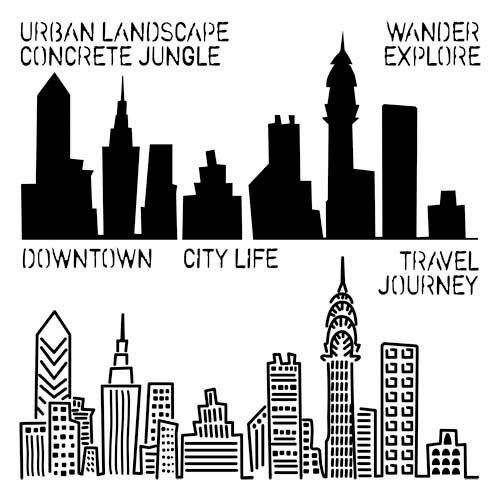 The Crafter's Workshop - 12 x 12 Doodling Template - Urban Landscape