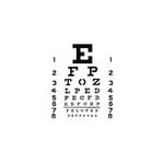 The Crafter's Workshop - 6 x 6 Doodling Template - Mini Eye Chart