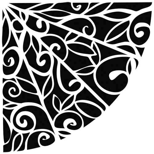 The Crafter's Workshop - 12 x 12 Doodling Template - Flower Quarter