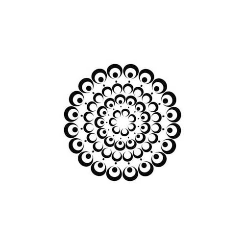 The Crafter's Workshop - 6 x 6 Doodling Template - Mini Bubble Doily