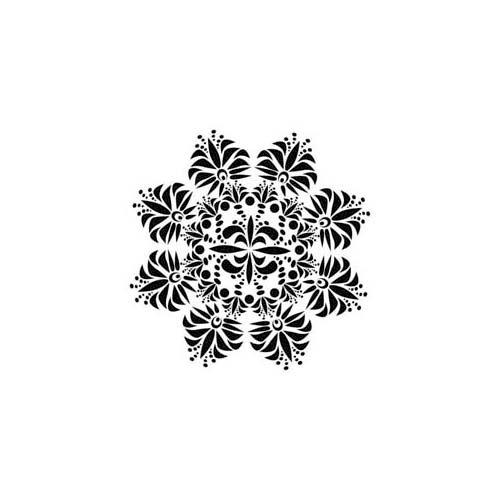 The Crafter's Workshop - 6 x 6 Doodling Template - Mini Fleur de Lis Doily