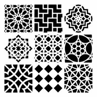 The Crafter's Workshop - 12 x 12 Doodling Template - Moroccan Tiles