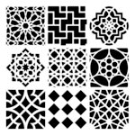 The Crafter's Workshop - 6 x 6 Doodling Template - Mini Moroccan Tiles