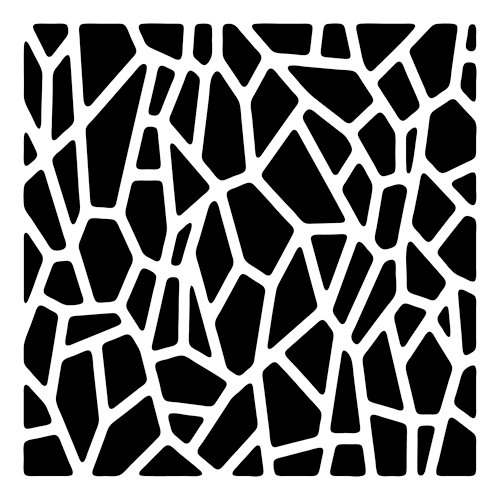 The Crafter's Workshop - 6 x 6 Doodling Template - Mini Giraffe Print