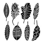 The Crafter's Workshop - 6 x 6 Doodling Template - Mini Fancy Feathers