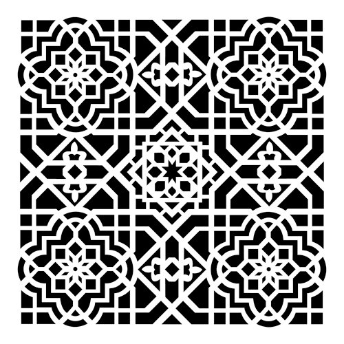 The Crafter's Workshop - 6 x 6 Doodling Template - Mini Ceiling Tile