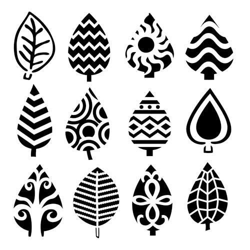 The Crafter's Workshop - 12 x 12 Doodling Template - Abstract Leaves