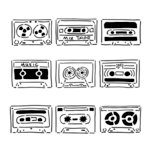The Crafter's Workshop - 6 x 6 Doodling Template - Mini Mix Tape