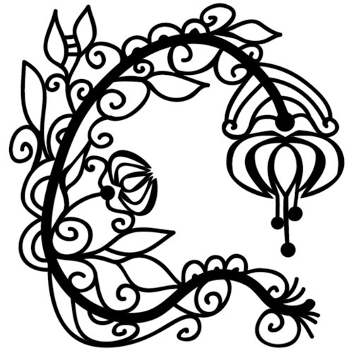 The Crafter's Workshop - 6 x 6 Doodling Template - Mini Graceful Flower