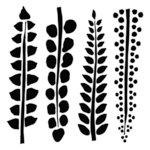 The Crafter's Workshop - 6 x 6 Doodling Template - Mini Four Ferns