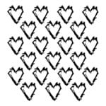 The Crafter's Workshop - 12 x 12 Doodling Template - Grunge Hearts