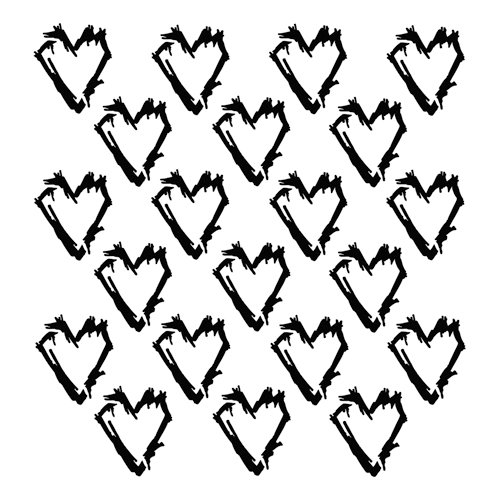 The Crafters Workshop Mini Grunge Hearts 6 X Template
