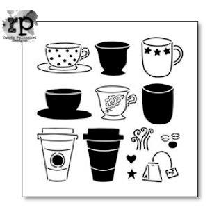 The Crafter's Workshop - 6 x 6 Doodling Template - Cafe Latte