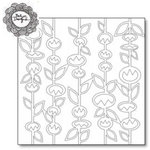 The Crafter's Workshop - 6 x 6 Doodling Template - Stick Flowers