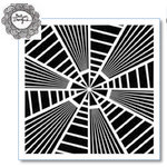 The Crafter's Workshop - 6 x 6 Doodling Template - Stripes Explosion
