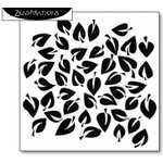 The Crafter's Workshop - 6 x 6 Doodling Template - Dancing Leaves