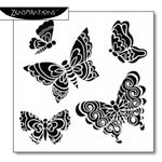 The Crafter's Workshop - 6 x 6 Doodling Template - Solid Butterflies