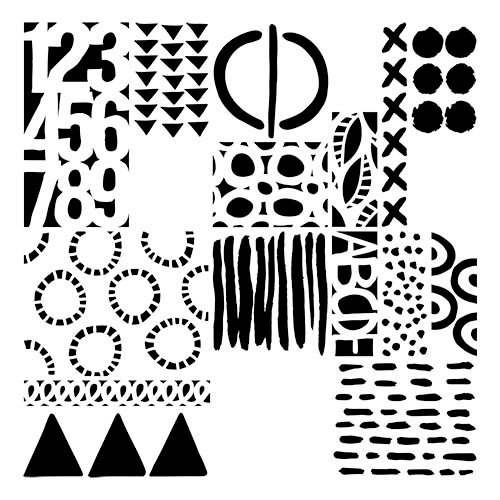 The Crafter's Workshop - 6 x 6 Doodling Template - Geometric Art Layers