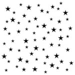 The Crafter's Workshop - 12 x 12 Doodling Template - Random Stars