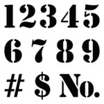 The Crafter's Workshop - 6 x 6 Doodling Template - Number Stencil