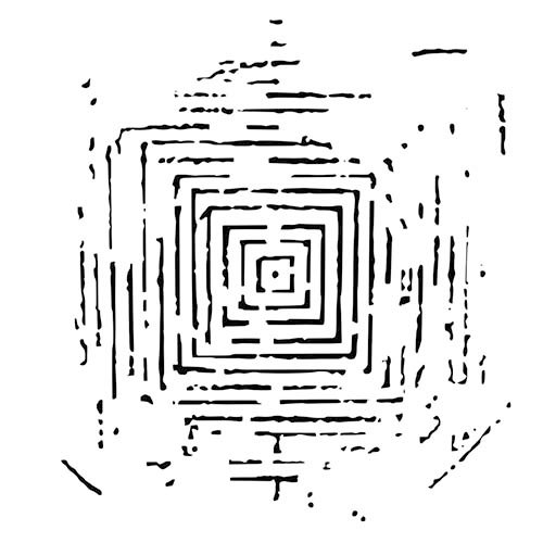 The Crafter's Workshop - 6 x 6 Doodling Template - Labyrinth