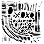 The Crafter's Workshop - 6 x 6 Doodling Template - XOXO
