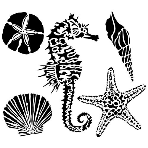 The Crafter's Workshop - 6 x 6 Doodling Template - Sea Creatures