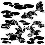 The Crafter's Workshop - 6 x 6 Doodling Template - Koi Pond