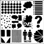 The Crafter's Workshop - 12 x 12 Doodling Templates - Life Tidbits
