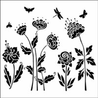 The Crafter's Workshop - 6 x 6 Doodling Templates - Mini Flying Garden