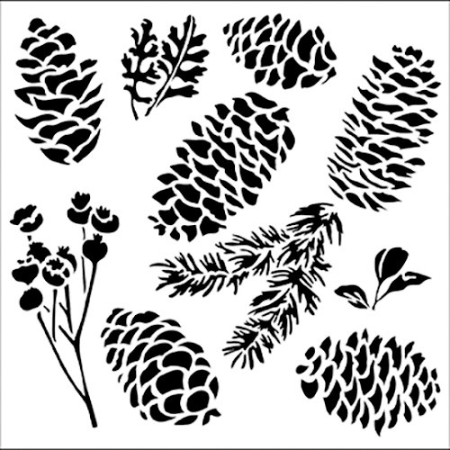 The Crafter's Workshop - 6 x 6 Doodling Templates - Mini Pinecones