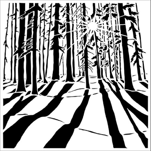 The Crafter's Workshop - 6 x 6 Doodling Templates - Mini Sunlit Forest