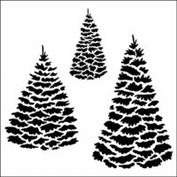 The Crafter's Workshop - 6 x 6 Doodling Templates - Mini Evergreens
