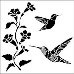 The Crafter's Workshop - 12 x 12 Doodling Templates - Hummingbirds