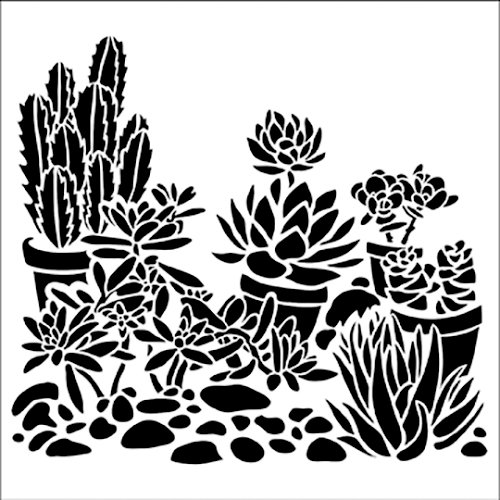 The Crafter's Workshop - 6 x 6 Doodling Templates - Mini Desert Garden