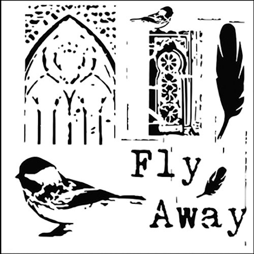 The Crafter's Workshop - 12 x 12 Doodling Templates - Fly Away