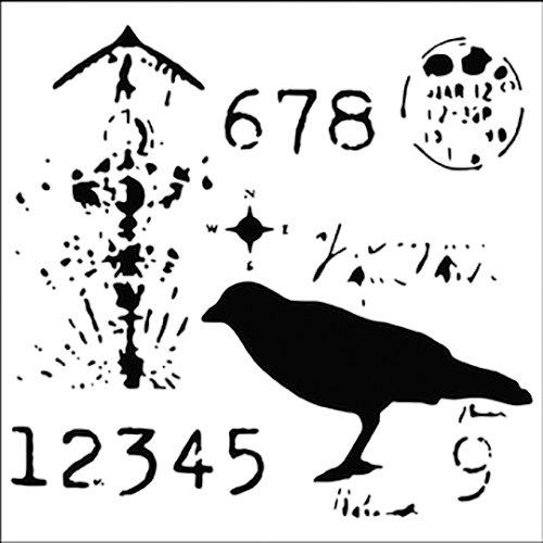 The Crafter's Workshop - 6 x 6 Doodling Templates - Mini Ravenscape