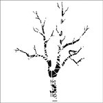 The Crafter's Workshop - 12 x 12 Doodling Templates - Shadow Tree
