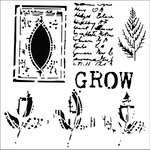 The Crafter's Workshop - 12 x 12 Doodling Templates - Grow Page