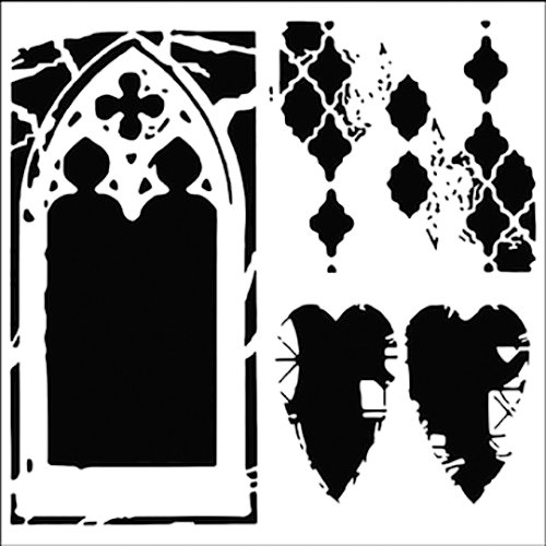 The Crafter's Workshop - 12 x 12 Doodling Templates - Cathedral of Love