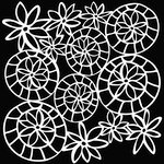 The Crafter's Workshop - 12 x 12 Doodling Templates - Striped Flower Circle