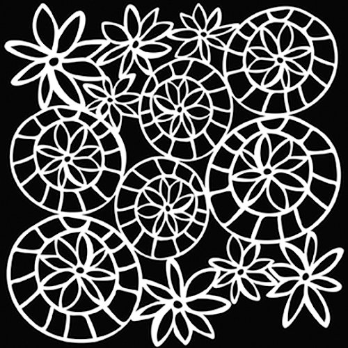 The Crafter's Workshop - 6 x 6 Doodling Templates - Mini Striped Flower Circle