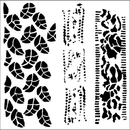 The Crafter's Workshop - 12 x 12 Doodling Templates - Chlorophyll